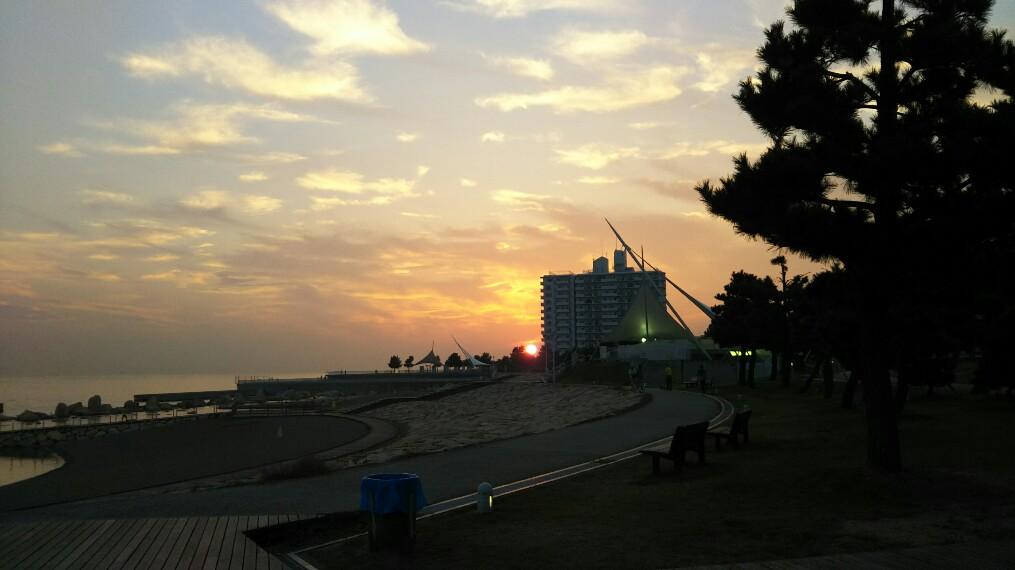 明石海峡大橋 夕陽
